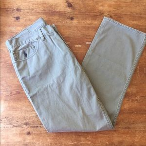 Polo Ralph Lauren Olive Chino Pants Dungarees